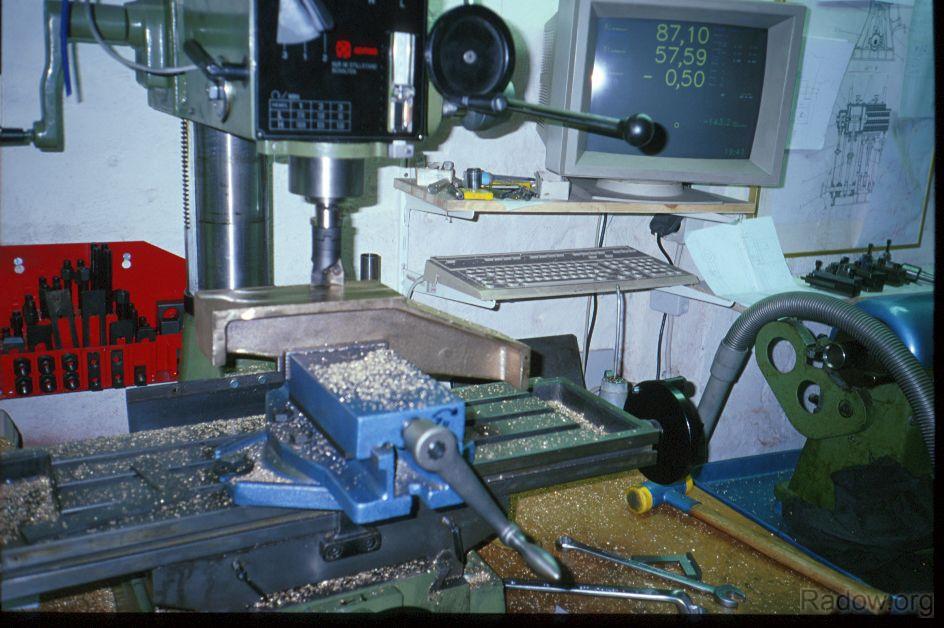 Wegmesssystem - Dampfmaschinenständer (Radow © 1997)