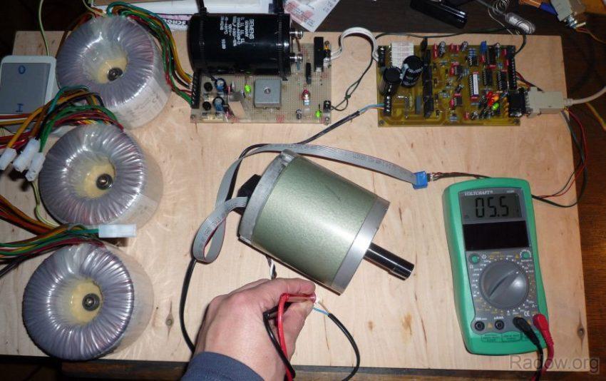 DC-Servomotorsteuerung - System UHU - Testaufbau
