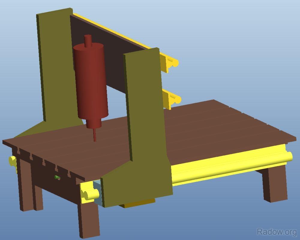 1. Idee zu meiner CNC Portalfräse in CAD (Radow ©)