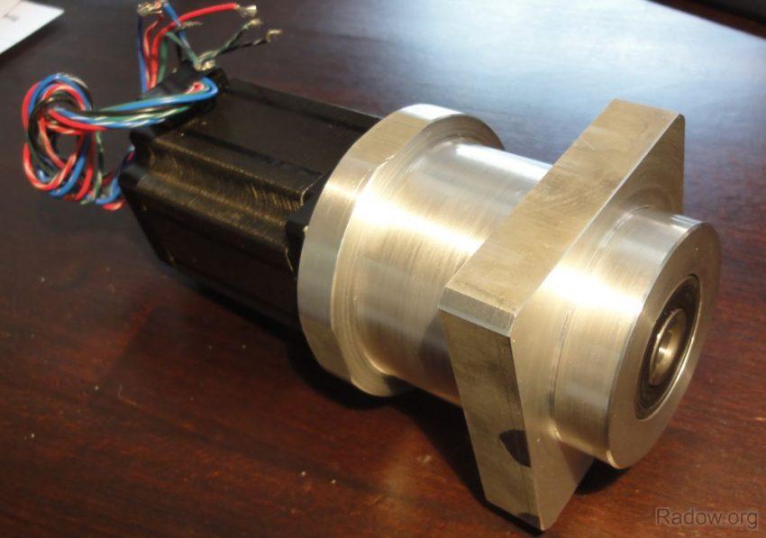 Gehäuse für Schrittmotor mit integriertem Festlager und Kupplung