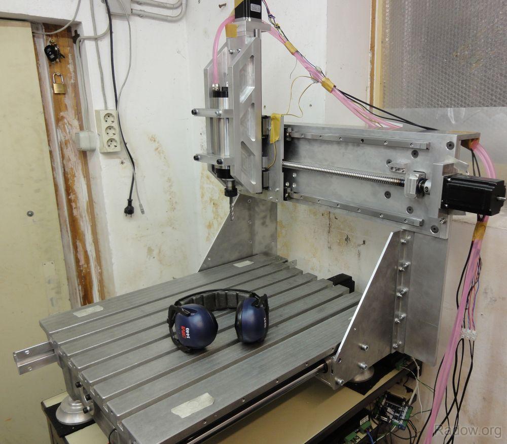 Fertige Mechanik der CNC Portalfräse