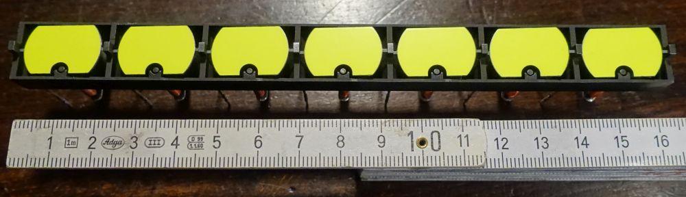 15 x 23 mm - Bohne - gelb - Einzelstreifen