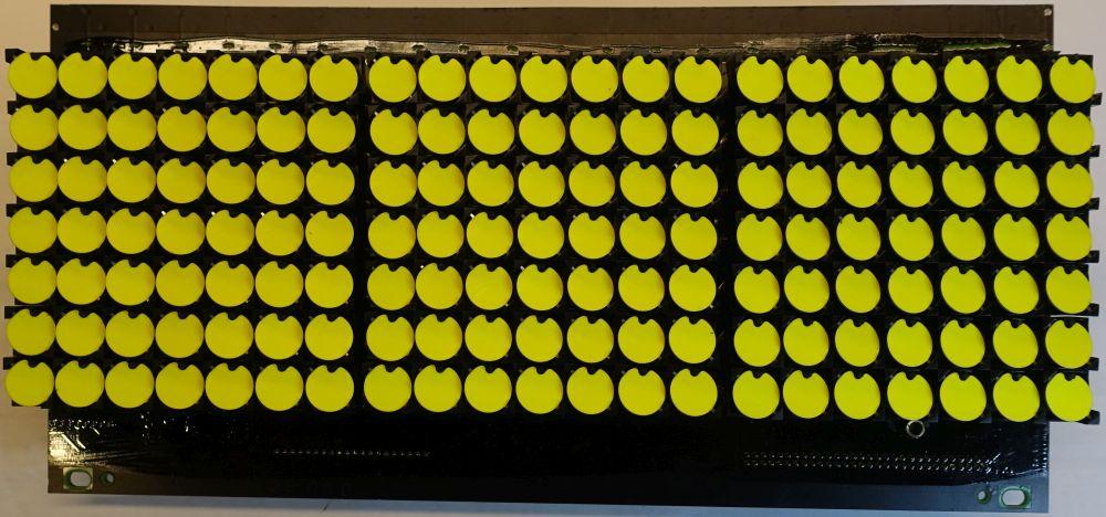 BROSE Flip-Dot Vorderseite - rund 15 mm - gelb - 21 x 7 Dots