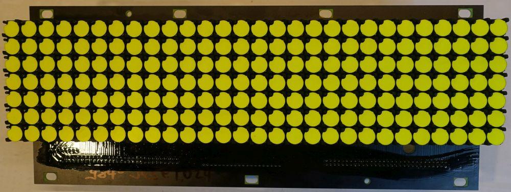 BROSE Flip-Dot Vorderseite - rund 10 mm - gelb - 21 x 19 Dots