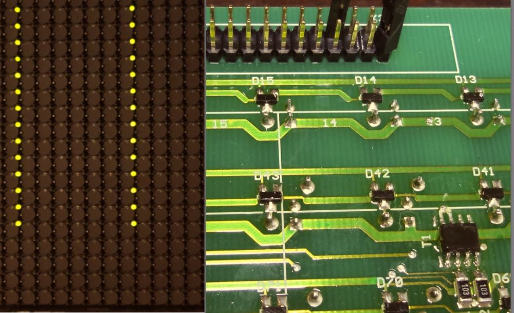 Flip-Dot Module mit einzeln ansteuerbaren LEDs je Dot