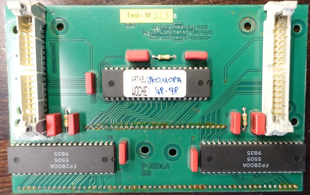 LAWO Flip-Dot Ansteuerplatine mit 3 Stück FP2800 Treibern für bis zu 28x28 Dots