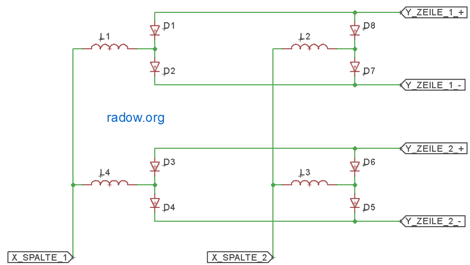 Flip-Dot Matrix Doppeldiode