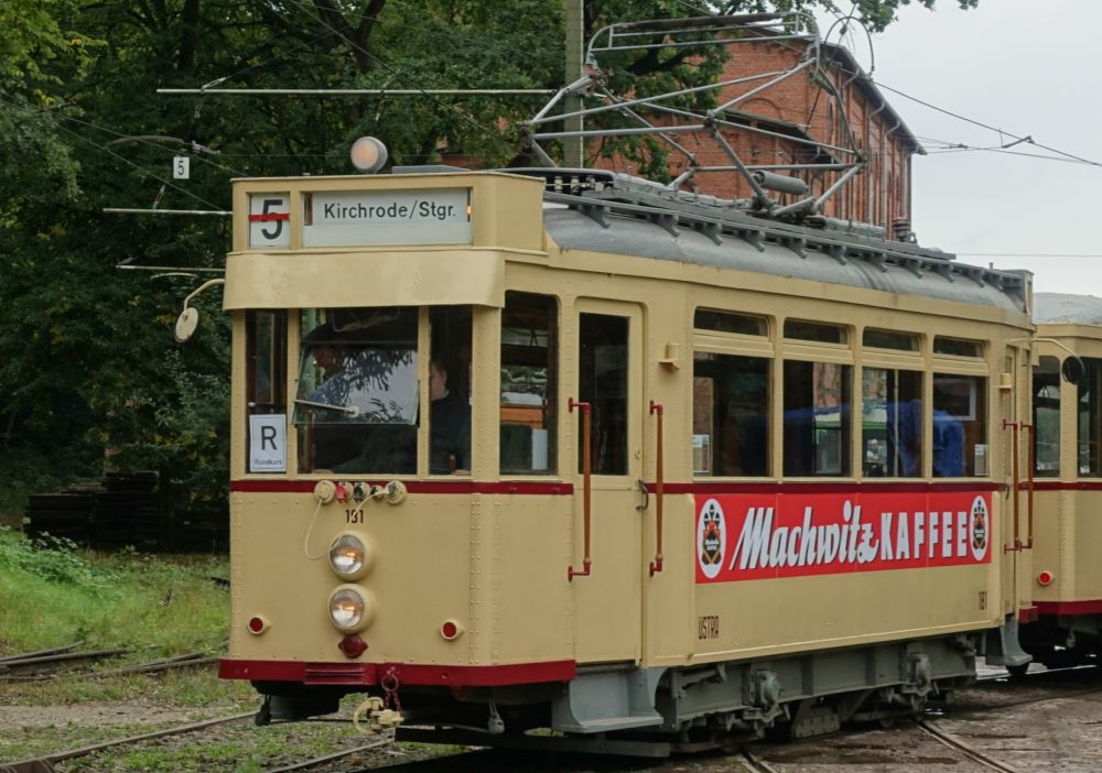 The tram of my childhood: HAWA steel wagon number 181 of the ÜSTRA in Hannover, Germany