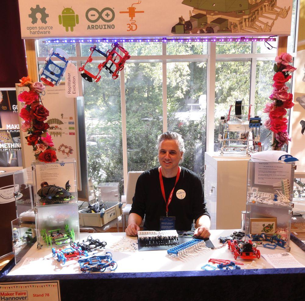 Auf der MAKER FAIRE 2014 habe ich alle meine 3D gedruckten Roboter vorgestellt